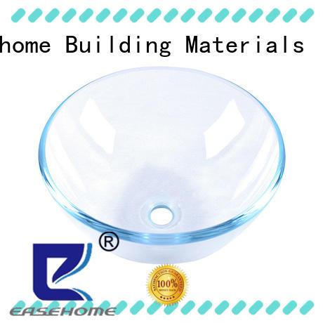 lotus shaped blue glass sink customization bathroom Easehome