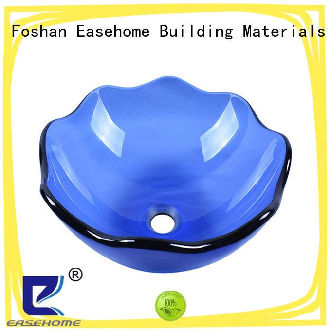 lotus shaped glass vessel bowl brown best price bathroom