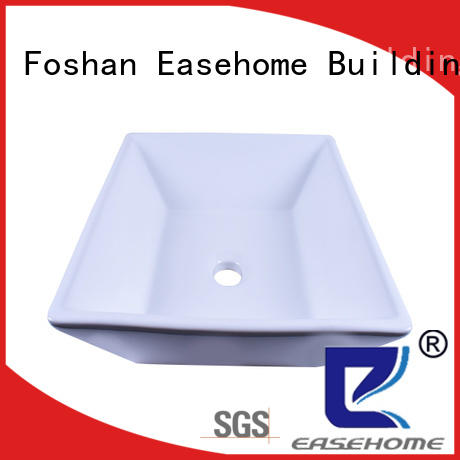 Easehome durable porcelain undermount bathroom sink good price hotel