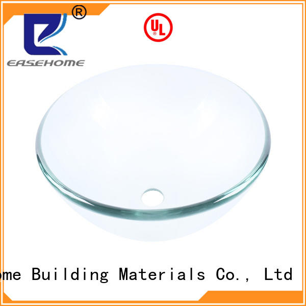 square shape brown glass vessel sink trendy design bathroom Easehome