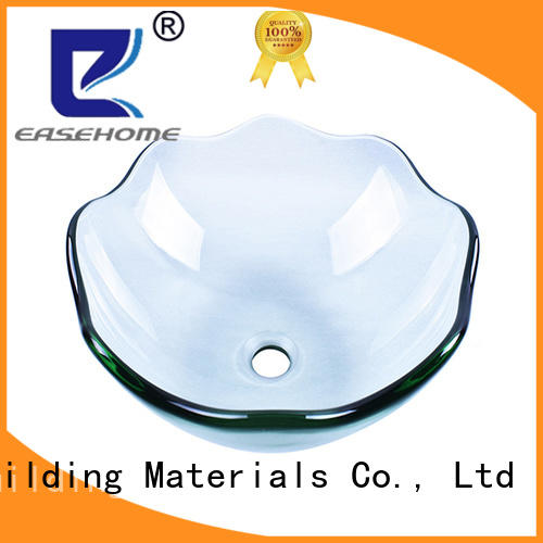 Easehome lotus shaped glass vessel bathroom sinks customization apartments