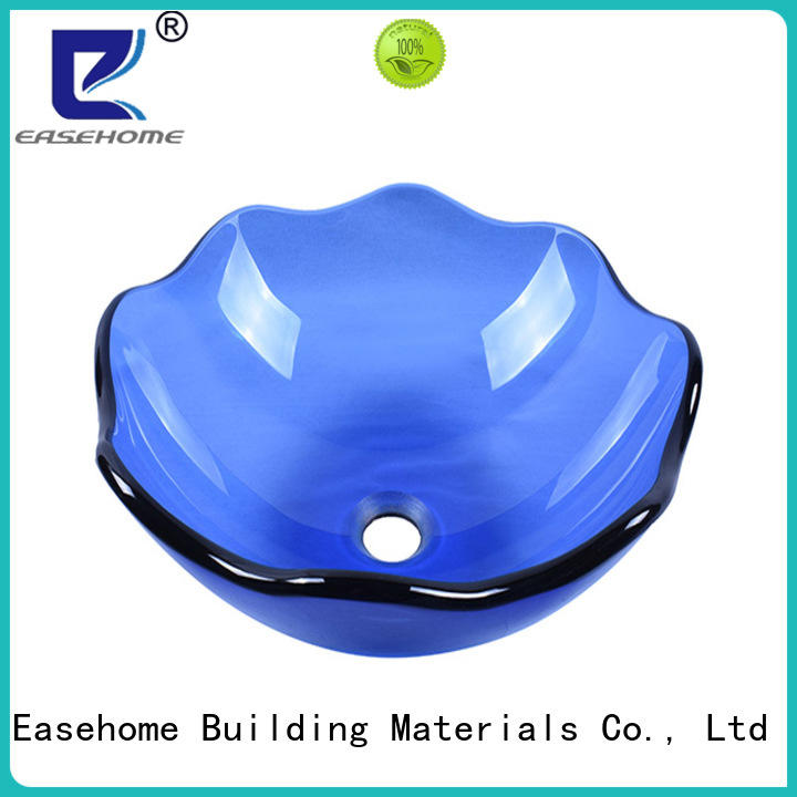 Easehome super white black glass sink customization apartments