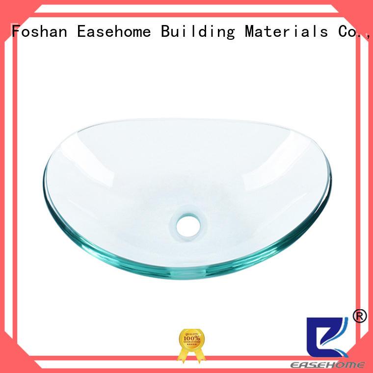 colorful glass basin oval shaped trendy design washroom