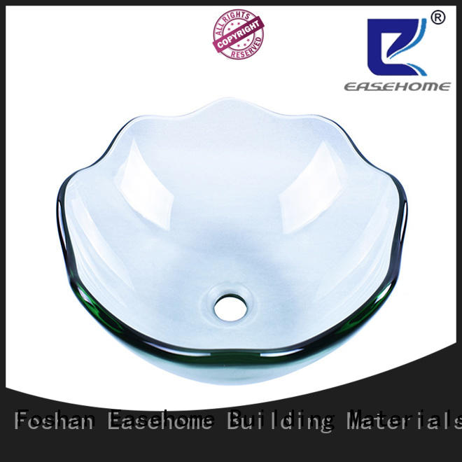 Easehome colorful glass bowl sink trendy design bathroom