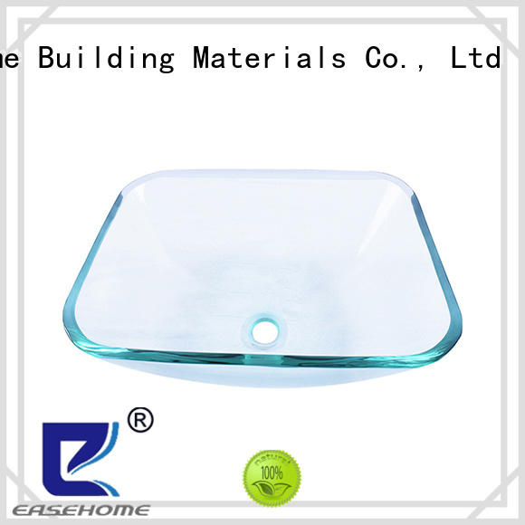 lotus shaped glass vessel bathroom sinks bowl round customization apartments