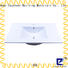 Bathroom White Porcelain Ceramic Vanity Counter Top Wash Sink Vessel 40 Inch