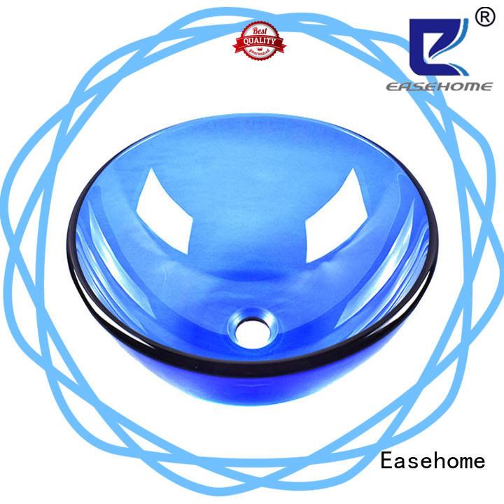 transparent glass bathroom sink bowl round bathroom Easehome