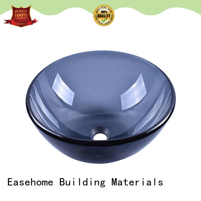 transparent glass bowl sink brown bathroom Easehome