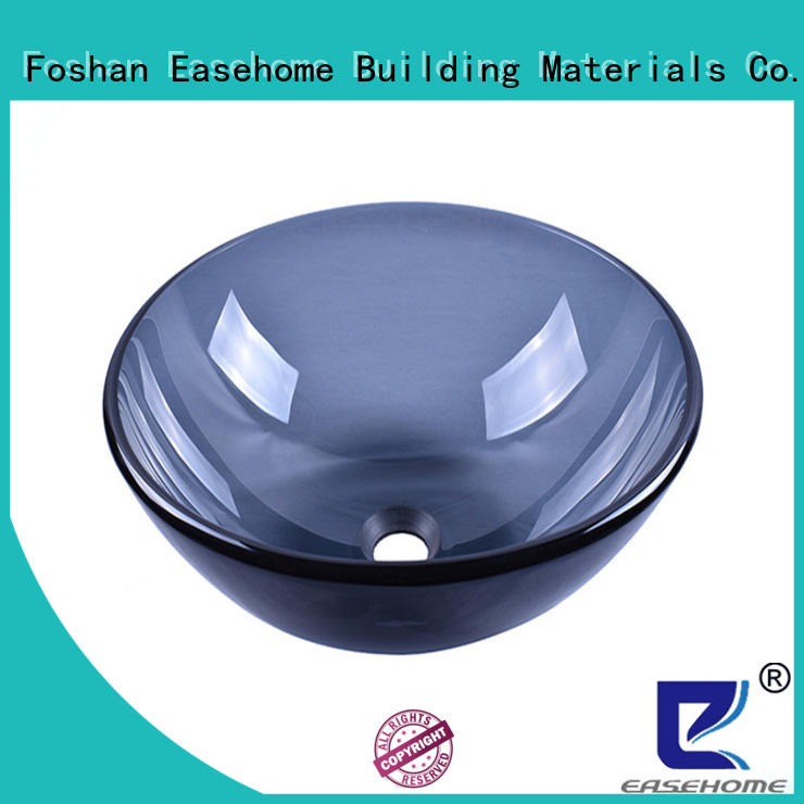 Easehome bowl round glass vessel sinks customization bathroom