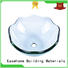 Easehome super white tempered glass sink best price bathroom