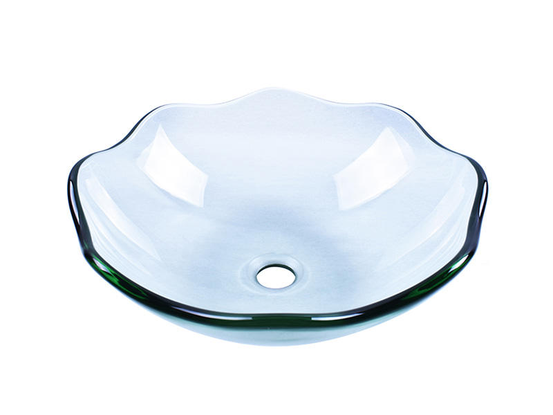 Easehome bowl round double layer glass vessel sink customization bathroom-1
