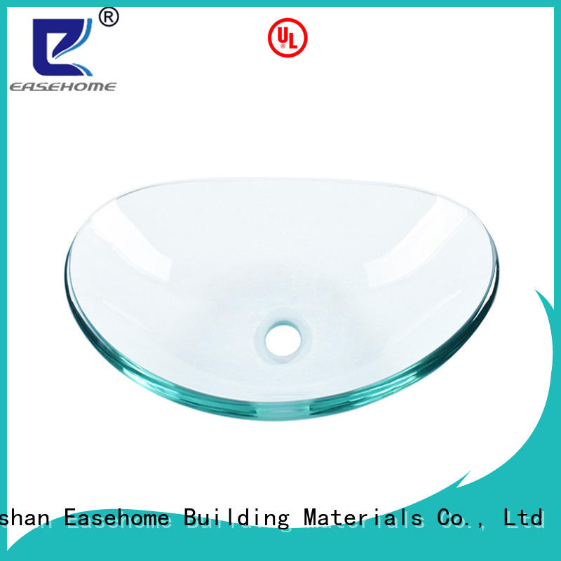 Easehome rectangular glass bowl basin trendy design washroom