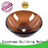bronze color wall mount glass sink durable bathroom Easehome