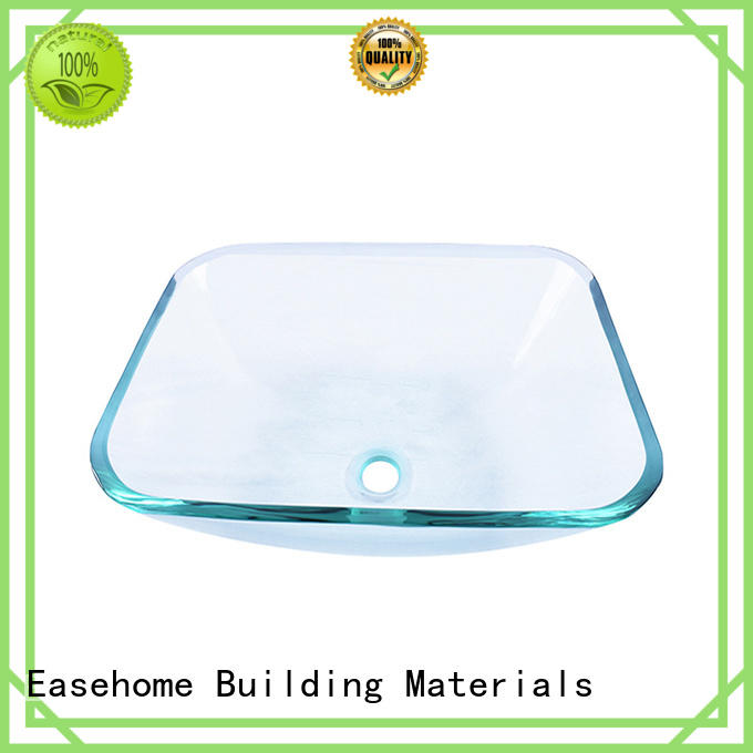 Easehome oval shaped blue glass vessel sink customization apartments