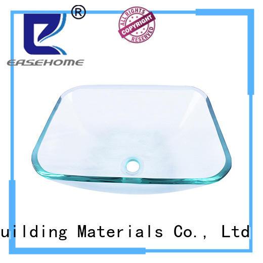 Easehome square shape glass bowl basin trendy design apartments