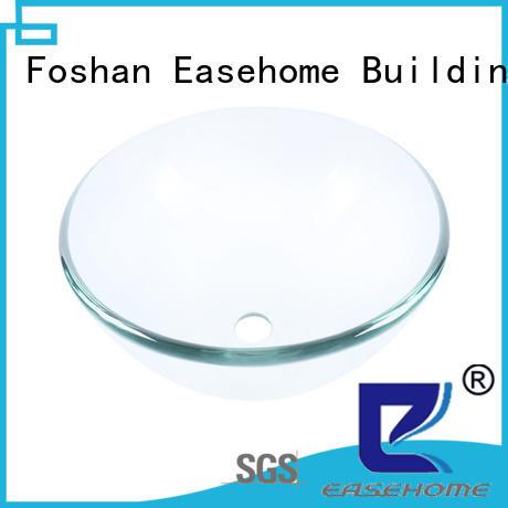 Easehome lotus shaped glass bathroom sink best price bathroom