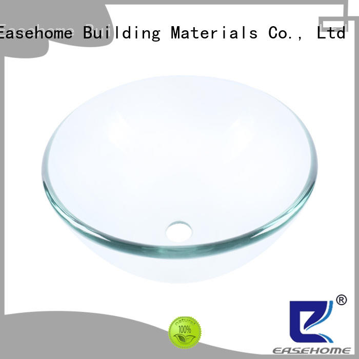 Easehome colorful glass sink customization washroom