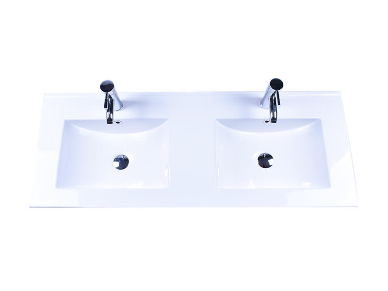 oem ceramic wash basin double bowl wholesale restaurant-2