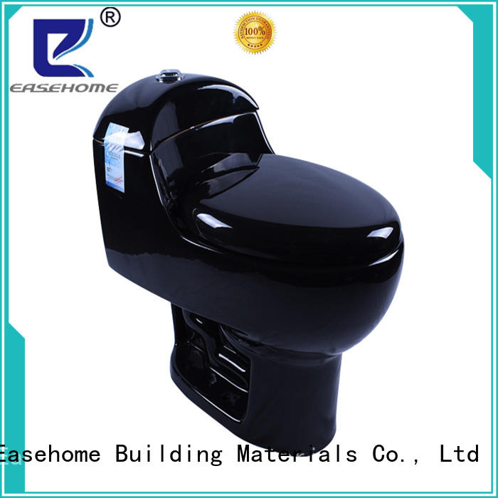black black porcelain toilet fast delivery bathroom Easehome