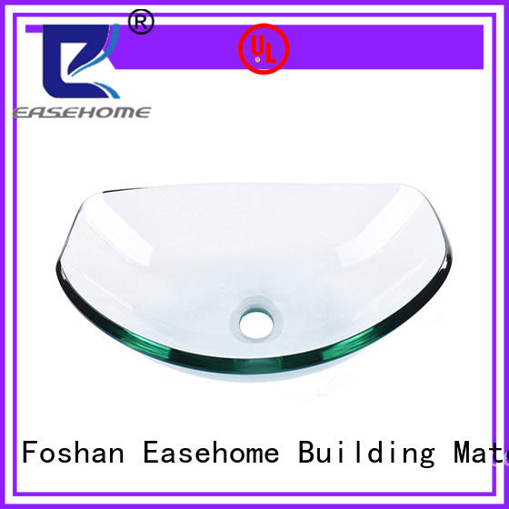 Easehome colorful glass vessel bathroom sinks customization apartments