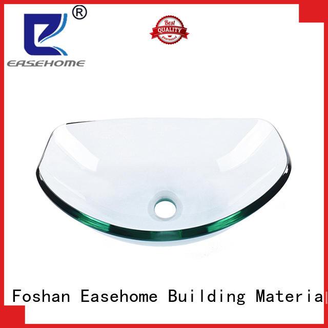 Easehome semitransparent green glass vessel sink best price bathroom