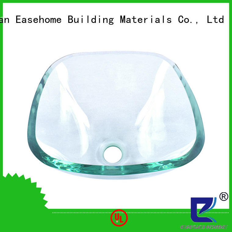 Easehome colorful glass bathroom sink customization apartments