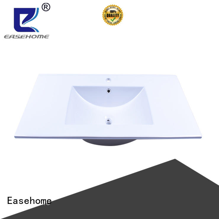 pure white clean white porcelain sink double bowl restaurant Easehome