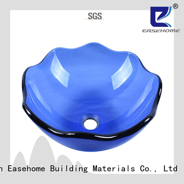 Easehome bowl round glass vessel bowl trendy design bathroom