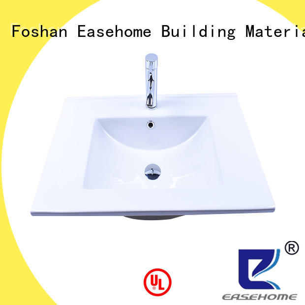 double bowl square porcelain sink wholesale hotel Easehome