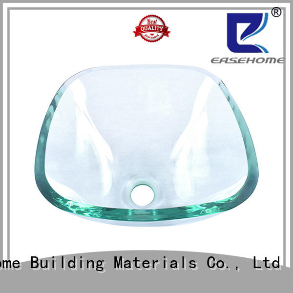 Easehome bowl round glass bathroom basins trendy design apartments