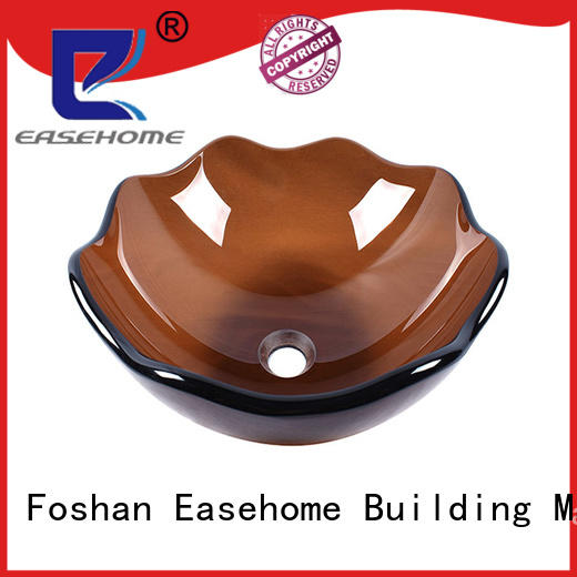bronze color oval glass vessel sink customization apartments Easehome