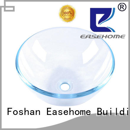 Easehome crystal double layer glass vessel sink best price washroom