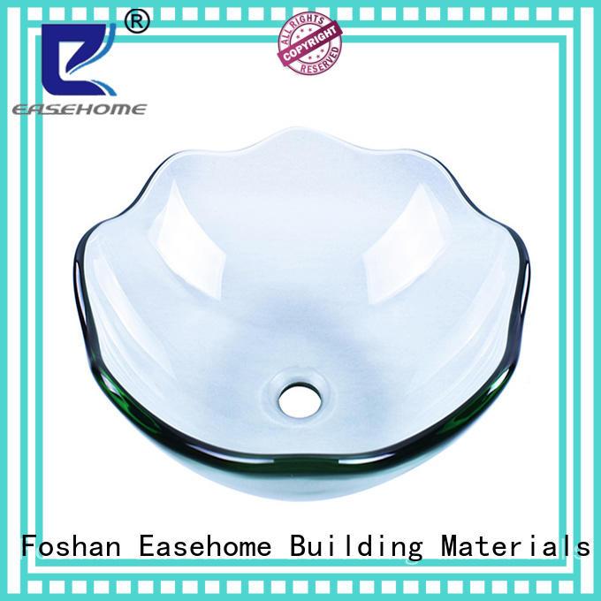 bronze color blue glass vessel sink customization washroom Easehome