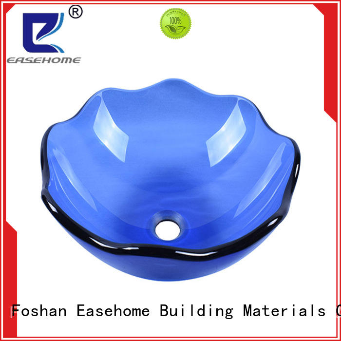 Easehome bronze color wall mount glass sink best price bathroom