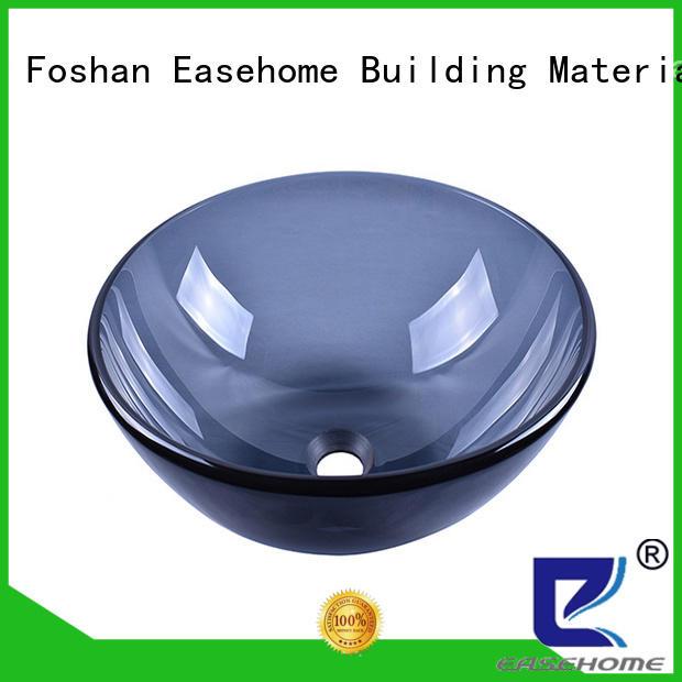 colorful glass basin bronze color customization washroom