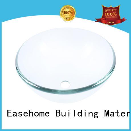 Easehome crystal large glass vessel bronze color washroom