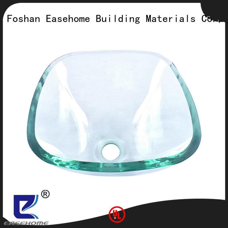 Easehome brown glass bathroom sink best price washroom