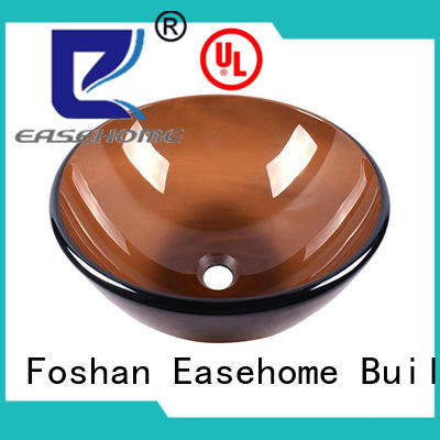Easehome bronze color glass vessel bathroom sinks best price washroom