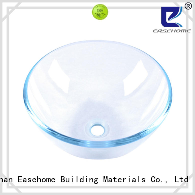Easehome square shape red glass vessel sink customization apartments
