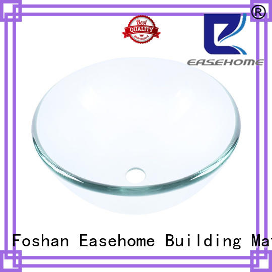 Easehome lotus shaped glass bowl basin customization bathroom