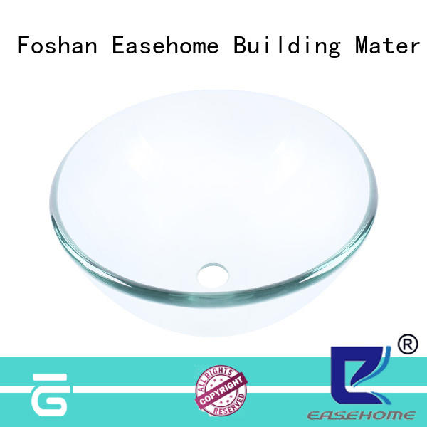 Easehome lotus shaped red glass vessel sink best price washroom