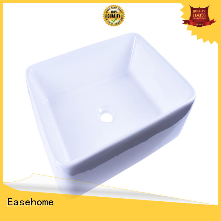 Easehome modern square porcelain sink good price hotel