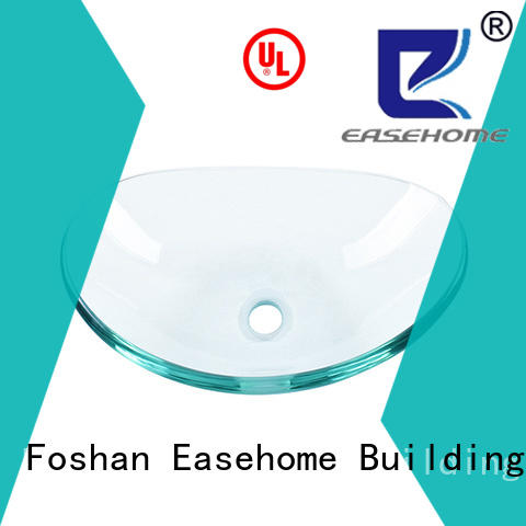 super white glass wash basin transparent apartments Easehome