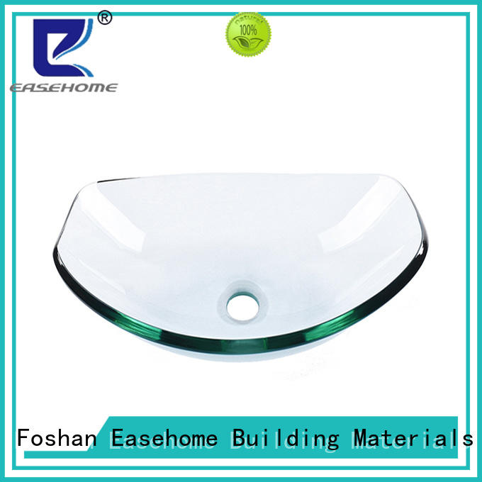 Easehome lotus shaped black glass sink best price apartments