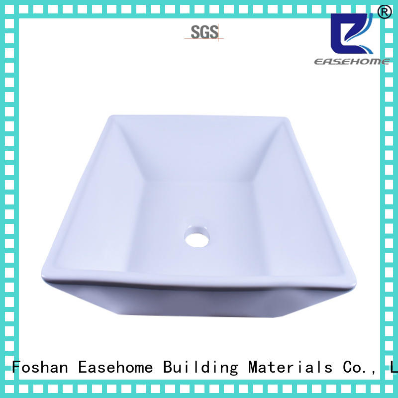 Easehome rectangle ceramic art basin good price hotel