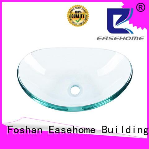 Easehome crystal glass vessel bathroom sinks trendy design bathroom