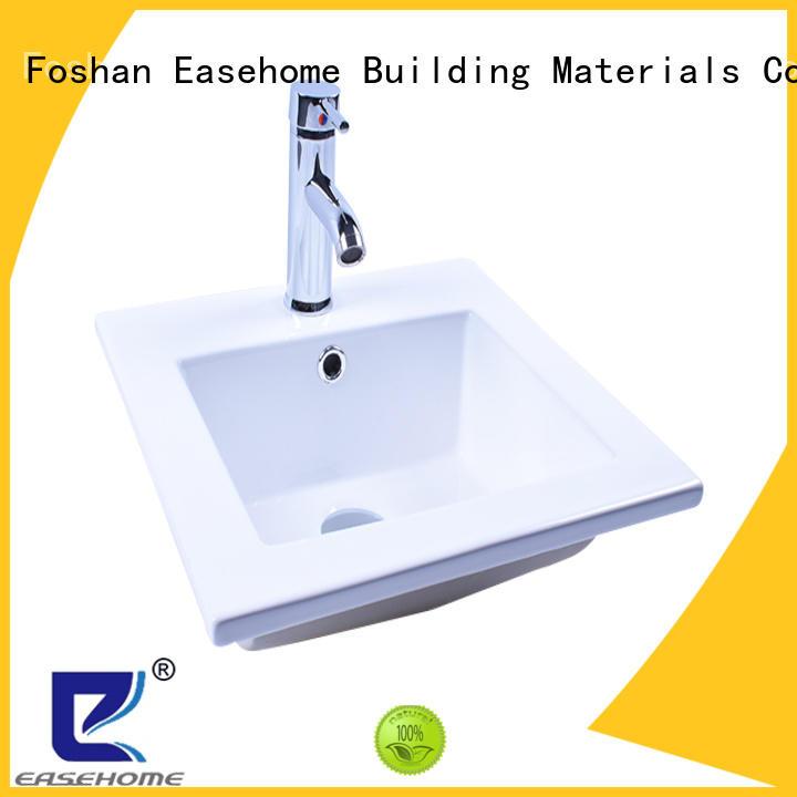 Easehome ceramic white porcelain sink awarded supplier hotel