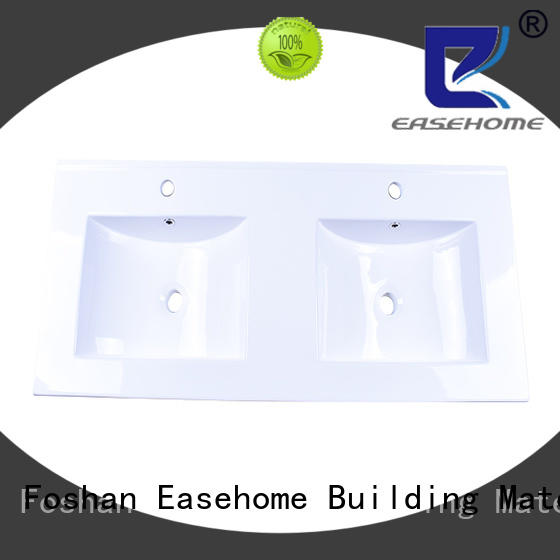 round porcelain sink double bowl hotel Easehome