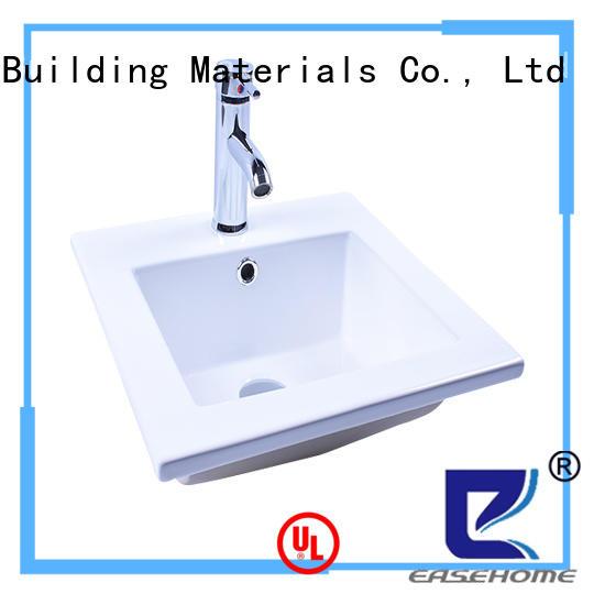 Easehome durable white porcelain vessel sink awarded supplier restaurant