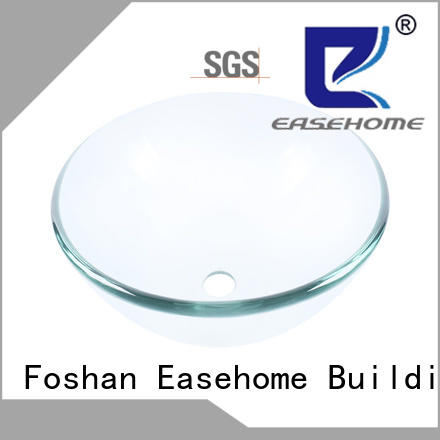 Easehome crystal glass vessel bathroom sinks customization washroom